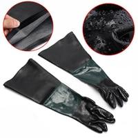 1 Pair Heavy Duty Sandblasting Gloves 60cm Work Gloves For Sandblaster Sand Blast Cabinet