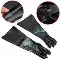 1 Pair Heavy Duty Sandblasting Gloves 60cm Work Gloves For Sandblaster Sand Blast Cabinet