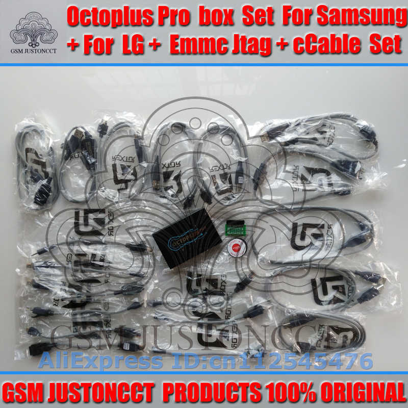 gsmjustoncct Octoplus Box Full Set for Samsung For LG+Medusa JTAG  Activation (Package+19 cable set) added for sam N900A&N900T