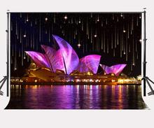 150x210cm City Night View Backdrop Sydney Opera House Photography Background