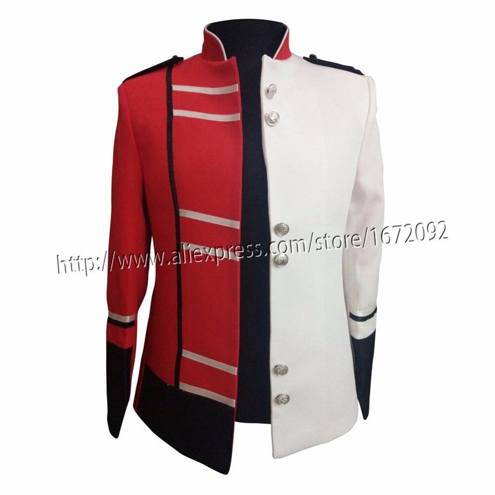 2018 New Arrival Unique Design Jacket Men Manteau Homme Red and White Jacket chaqueta hombre Matched color Veste Homme