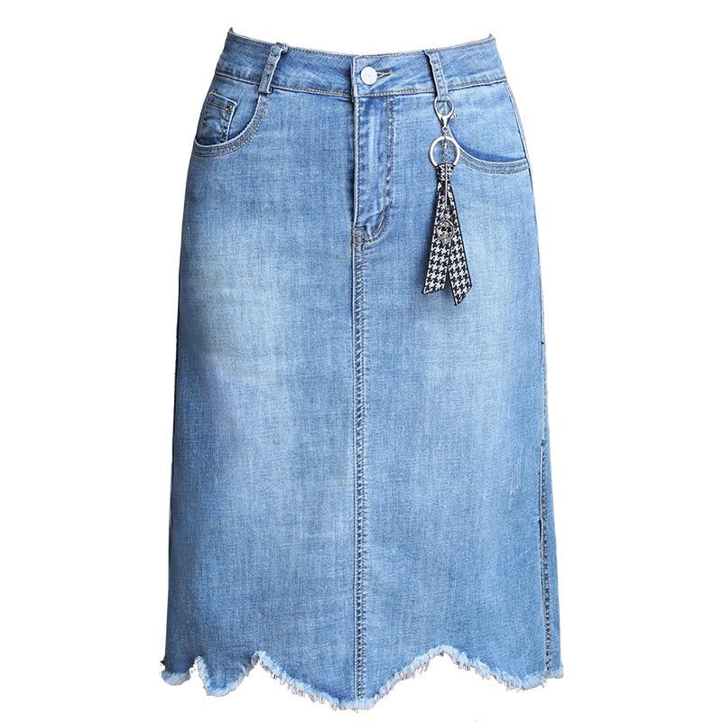 High Summer Thin Word M Long Was 4xl Waist Women 2019 Split New Denim Girl In Women's Section Skirt Female The 1257 A 0qvw4tSw