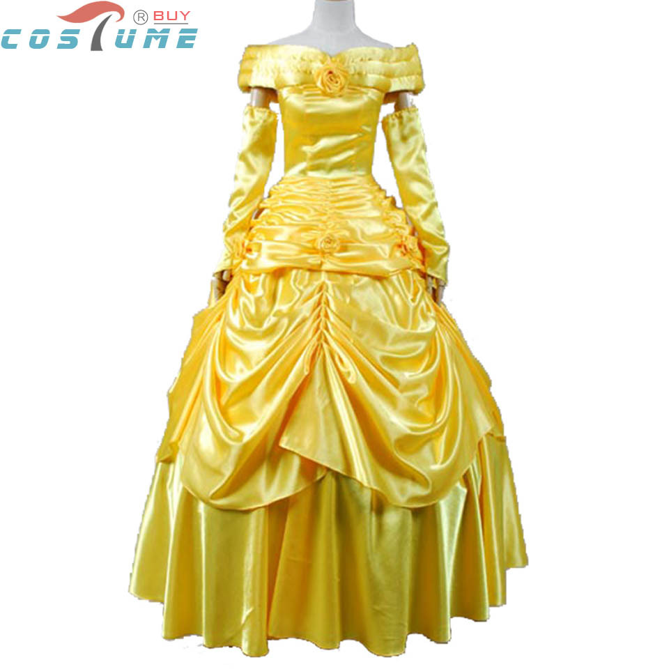 Beauty and the Beast Belle Cosplay Costumes Belle Dress For Women Evening Gown Yellow Adult Dress Anime Party Halloween Costume