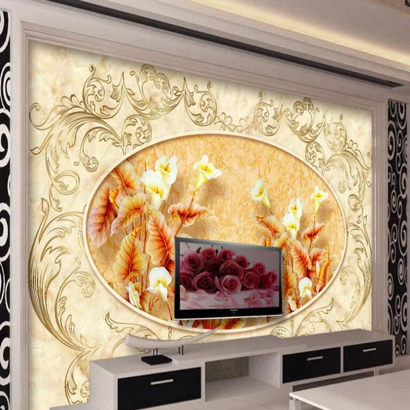 Beibehang Custom Wallpaper Home Decor Living Room Bedroom: Beibehang Large Custom Wallpaper European Style Carving