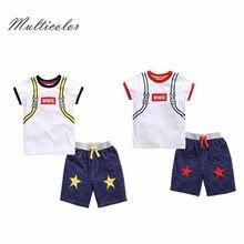 Новинка года; разноцветная Дизайнерская одежда со звездами для мальчиков; Детская летняя одежда для мальчиков; комплект одежды для мальчиков с героями мультфильмов; Хлопковые Штаны; t-shit