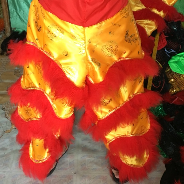aca1ed72f men's chinese dance lion pants with fur chinese dragon dance costume kung  fu clothes festival performance clothing dance drum-in Holidays Costumes  from ...