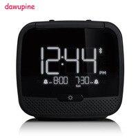 dawupine Music Alarm Clock Bluetooth Speaker Night Light Control FM Radio Bed Bound Temperature Date Week MP3 Player USB Charger