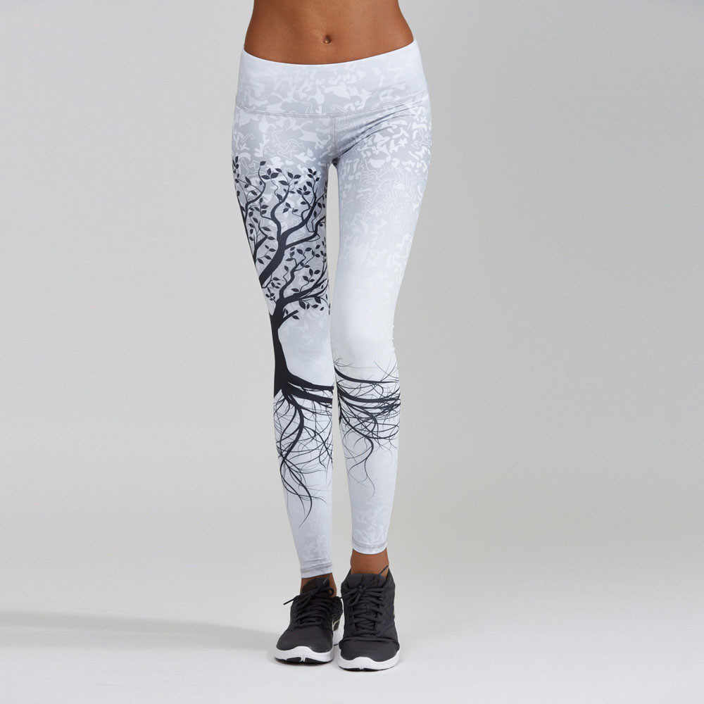 Calça esportiva feminina estampada, calça academia exercícios físicos esportiva corrida