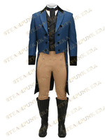 Jazz Cloth Double Breasted Mens Steampunk Tailcoat