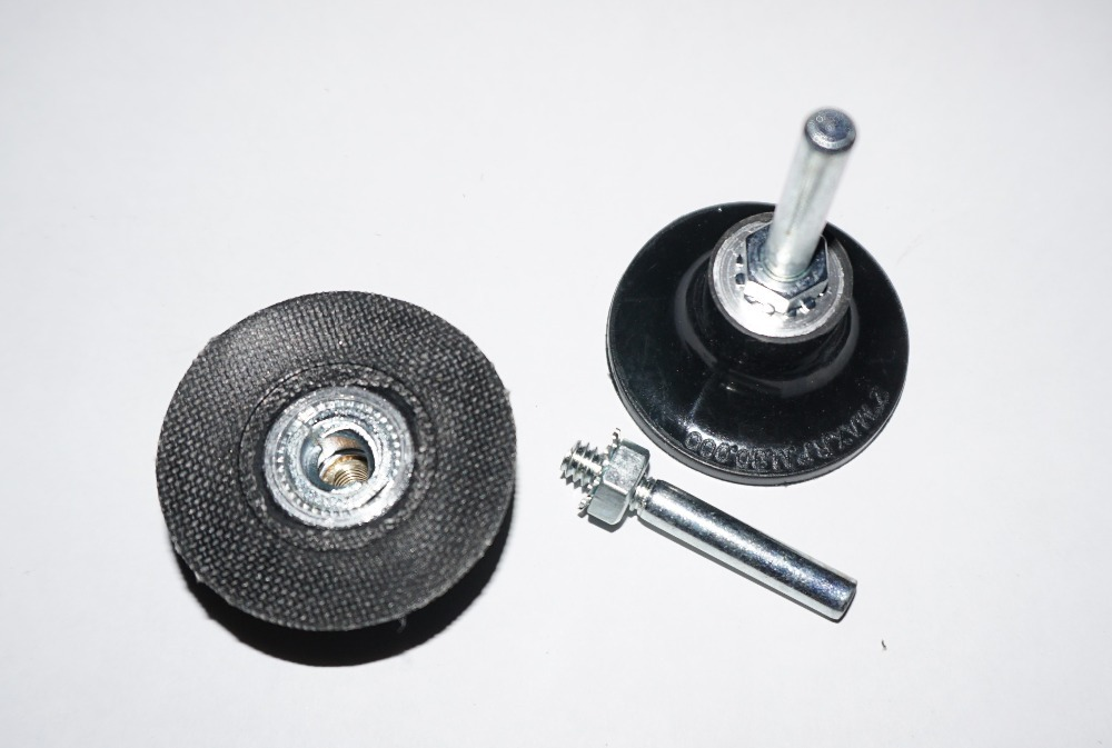 """2/"""" Roloc Disc Pad Holder  Roll on Conditioning Sanding"""