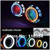 Free Shipping 2pcs X 3 Inch Projector Lens CCFL Double Angel Eyes 35W HID Slim Ballast