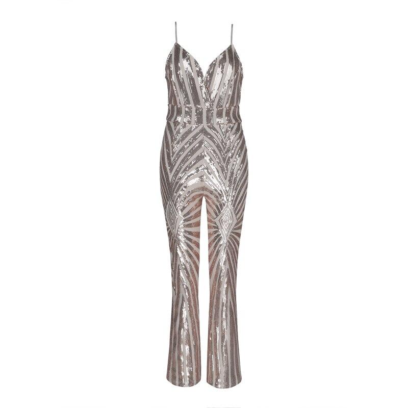 Sling Night Nouvelles L'europe Celebrity Barboteuses En Party Beige Gros Combinaisons cou h2676 V Club Sexy Sequin 2019 PwwXz