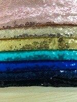 Mylb 1 м/шт. ткань с блестками для вышивки Материал цвета: золотистый, серебристый блестящие ткани для Clothsing делает вечерние события TableCovers Деко...