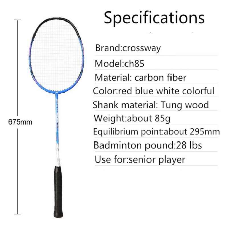 racquet badminton 2018 Light Weight Badminton Racquet 28LBS Sports Badminton Racket 100%carbon badminton racket with bag