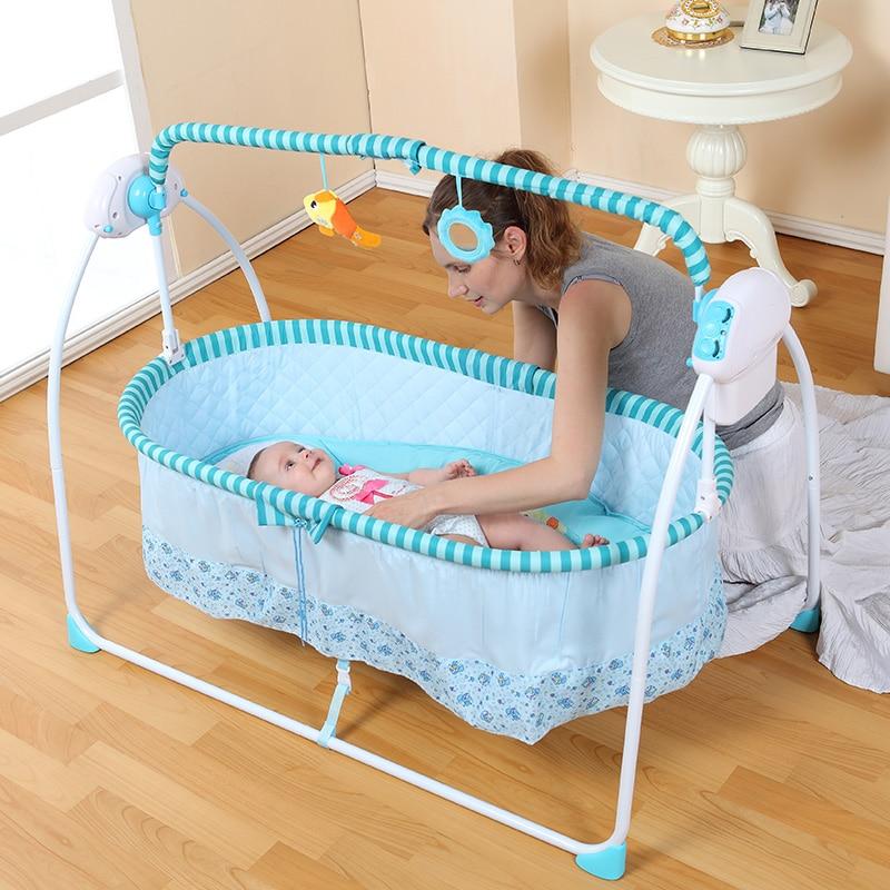 2016 Fashion Big Space Electric Baby Crib/ Infant Rocker ...