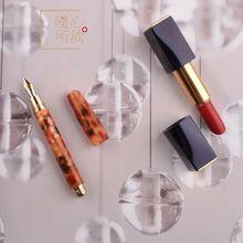 Fuliwen 2062 Mini Resin Pocket Fountain Pen Ink Pen M Nib Fashion Short Travel Pen Beautiful Stationery Office school supplies