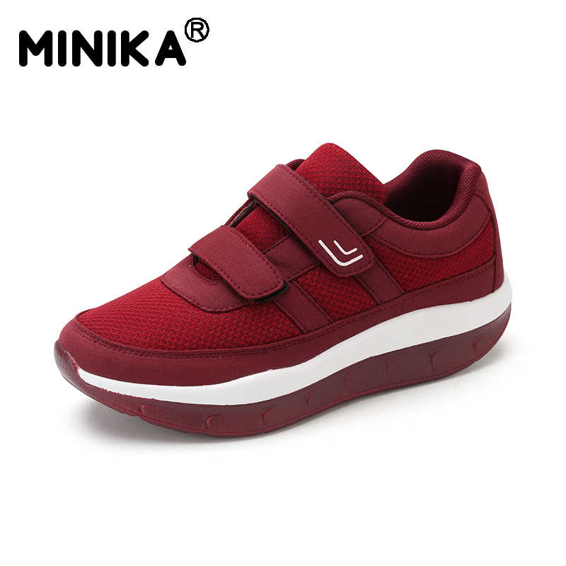 ... Minika Women s Comfortable Swing Platform Shoes Mother Breathable Mesh  Shoe Zapatos De Mujer Fitness Sneakers Sapatos ... 2eea1709b9d6