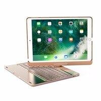 GrassRoot Wireless Bluetooth Aluminum Keyboard Case For IPAD PRO 9 7 10 5 Inch 360 Degree