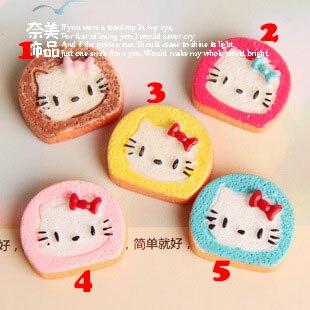10pcs/lot Cute Kitty Cat Cookie 18*20mm Resin Flatback Cabochon For DIY Craft DIY Wedding Decorations Dollhouse Christmas