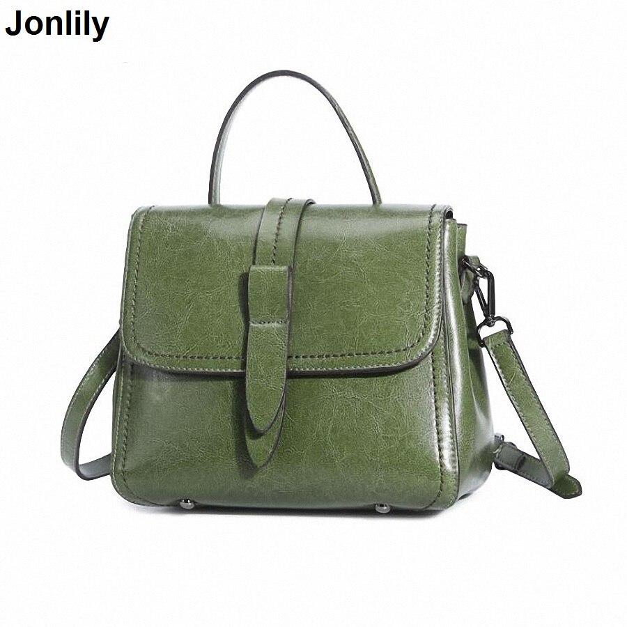 New Arrival Women's Real Leather Handbag Fashion Female Shoulder Bags Small Casual Female CrossBody Bag Retro Tote Purse SLI-407 цена
