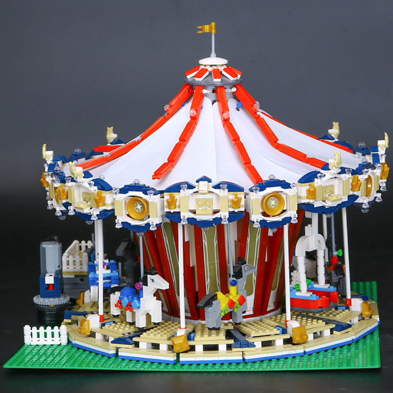 NEW Lepin 15013 3263pcs City Sreet Carousel Model Building Kits Blocks Funny Children Educational Lovely Gift Toys With 10196 lepin 02012 city deepwater exploration vessel 60095 building blocks policeman toys children compatible with lego gift kid sets