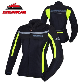 BENKIA Motorcycle Jacket Motocross Racing Suits Denim Jacket For Women Breathable Mesh Riding Clothes Jaqueta Motoqueiro JW-W32