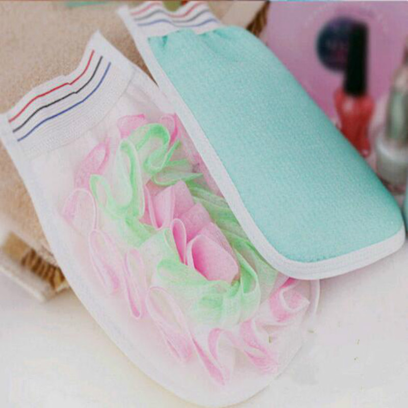 Bath Cuozao Gloves Bubble Bath Flower Small Rub Cloth Cellulite bath gloves / thin body exfoliating dead skin / take a shower