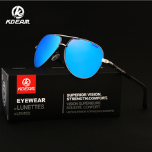 KDEAM Sports Sunglasses Polarized Mirror 100% UV400 6 Colors HD Beach Shades With Case KD8725