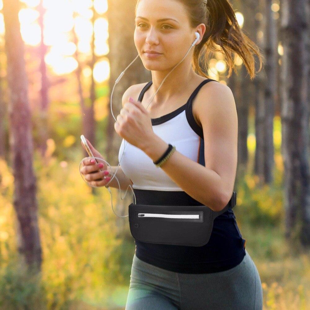 Открытый Водонепроницаемый унисекс бум Фитнес Спорт бег пояс деньги пояса сотовый телефон Key сумка