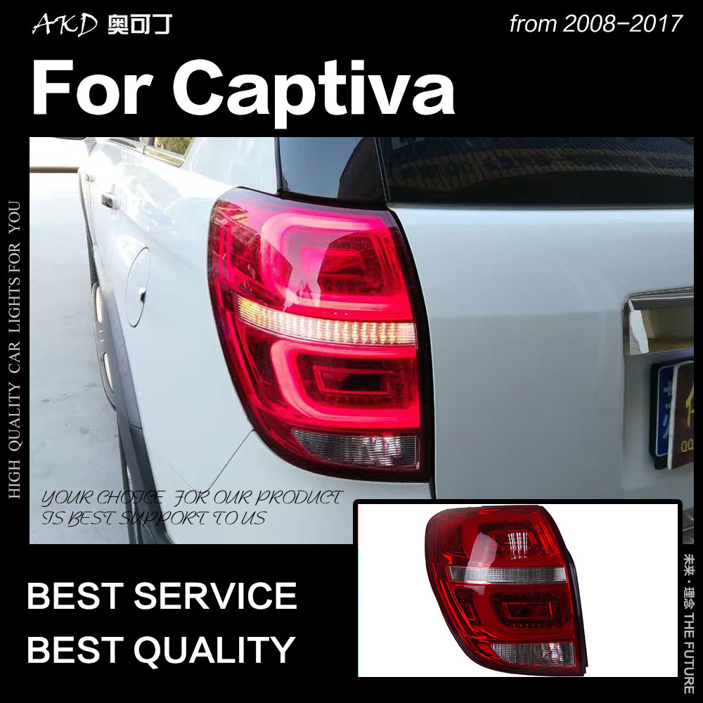 AKD Car Styling for Chevrolet Captiva Tail Lights 2008-2017 New Kaptiva LED Tail Lamp DRL Signal Brake Reverse auto Accessories
