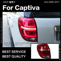 AKD Car Styling for Chevrolet Captiva Tail Lights 2008 2017 New Kaptiva LED Tail Lamp DRL Signal Brake Reverse auto Accessories