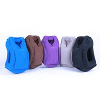 1Pc Free Shipping Travel Pillow Soft Air Inflatable Neck Pillow Comfortable Traveling Bolster Car Pillows For