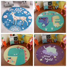 Infant Round Baby Play Mat Diameter 140CM 55IN Cartoon Carpet Computer Chair Cushion Children Room Rug Machine Washable