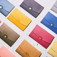 40 개/대 빈티지 사랑 작은 색 진주 빈 미니 종이 봉투 결혼식 초대장 봉투/금테 봉투/11 색