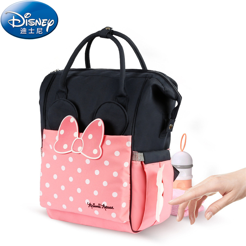 Disney 2018 Thermal Insulation Bag High capacity Baby Feeding Bottle Bags Backpack Baby Care Diaper Bags