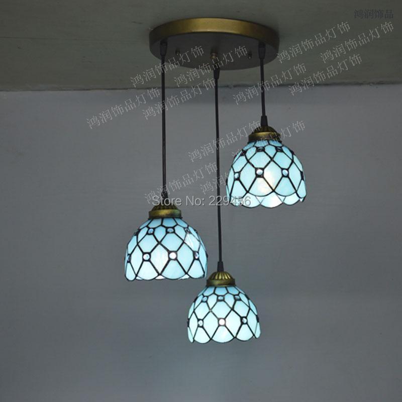 mediterranean style lighting. Tiffany Pendant Light Mediterranean Sea Style Lake Blue Color Bedroom Fixtures E27 110 240V-in Lights From \u0026 Lighting On Aliexpress.com