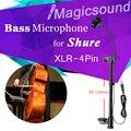 Профессиональный Инструмент Микрофон Бас Конденсаторный Микрофон для Shure Wireless System XLR 4-контактный Разъем, 205-235 мм Толщина