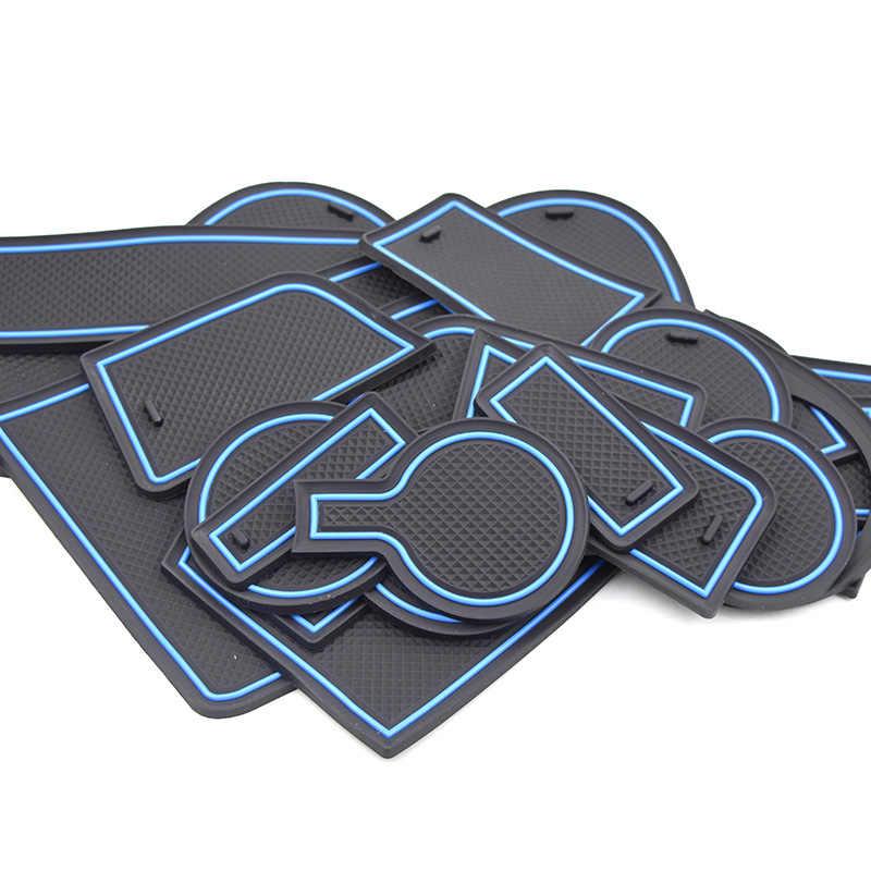 حصيرة فتحة فتحة بوابة الخط لـ Kia Rio 4 X مضادة للانزلاق لوحة أخدود الباب تزيين داخلي ملحقات تزيين السيارة 2017