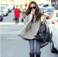 Женщины Пончо Накидки куртка С Капюшоном Bat Рукавом Меховой Воротник Шаль Верхняя Одежда Шуба Зима Осень Пальто