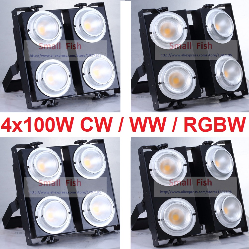 4xLot Professional Disco Lighting 4x100W COB Audience Light 4 eyes 100W LED Blinder Light Stage Effect Strobe White Back Lights blinder m45 x treme