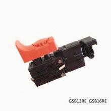 Frete grátis! Interruptor de controle elétrico da velocidade da broca do martelo para bosch gsb13re gsb16re, acessórios da ferramenta elétrica