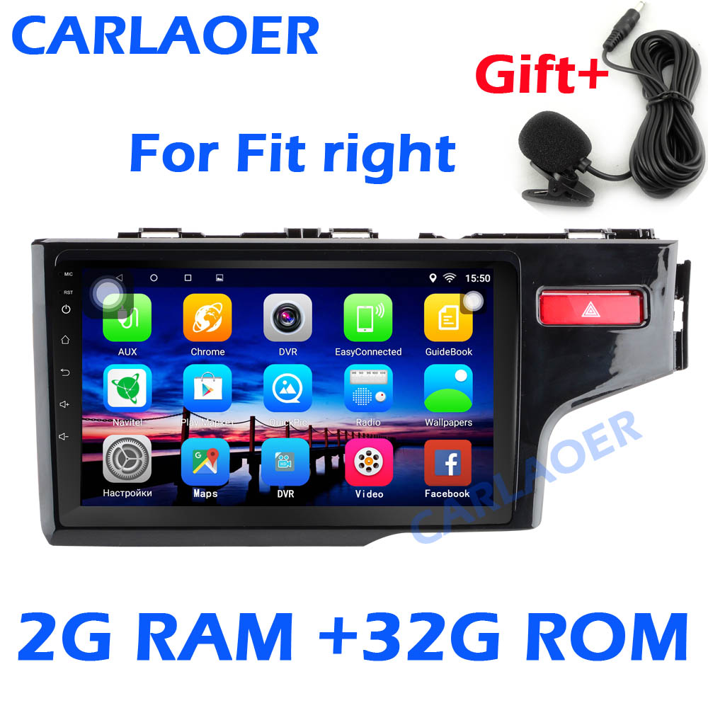 hight resolution of 2g 32g android car dvd radio gps 2 din stereo for honda fit right jazz fit rhd 2014 2015 2016 quad core car multimedia player