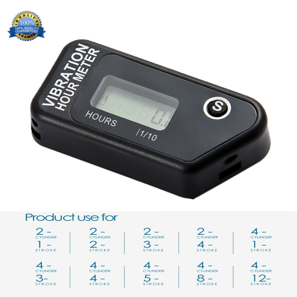 Waterproof Resettable Vibration Wireless Hour meter for motorcycle jet ski marine tractor jet boat pit bike RL-HM016B