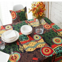Home textile Bohemian Mediterranean linen square meal cotton tablecloth tea table cloth cover