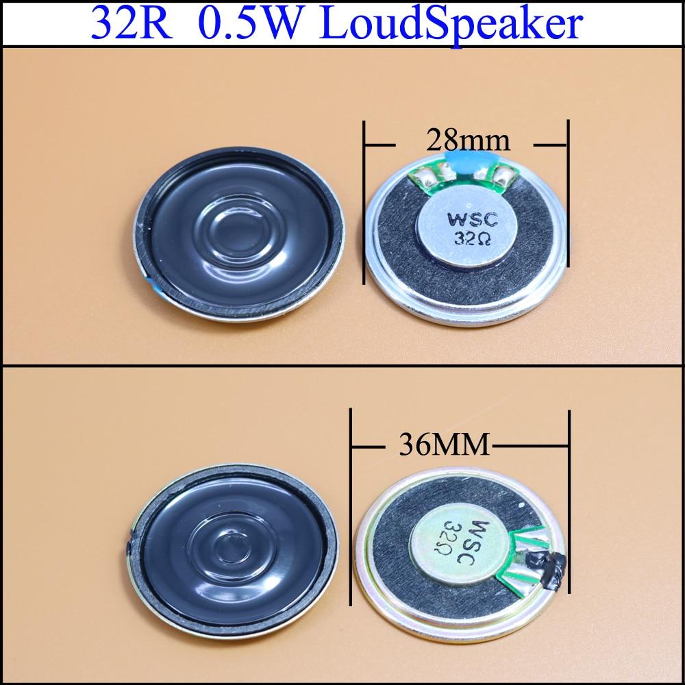 YuXi 32 Ohm 0.5W Small Trumpet 28mm 36mm Diameter Loudspeaker Loud Speaker 32R 0.5W