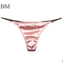 5edd5820bfd5 G-string Underwear Sexy Panties Briefs For Women Silk Sexy Thongs T Back Female  Adjustable