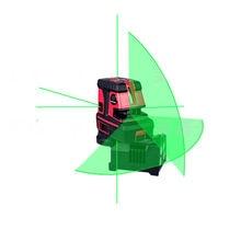Leter Green laser spot автоматическое выравнивание перекрестной линии лазерный уровень 5 точек, 1 В, 1 ч