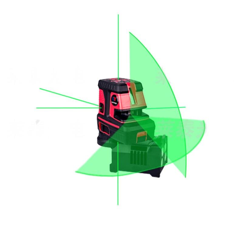 LETER Verde ponto de laser Auto Nivelamento a laser Linha Cruzada nível 5 pontos, 1 V, 1 H