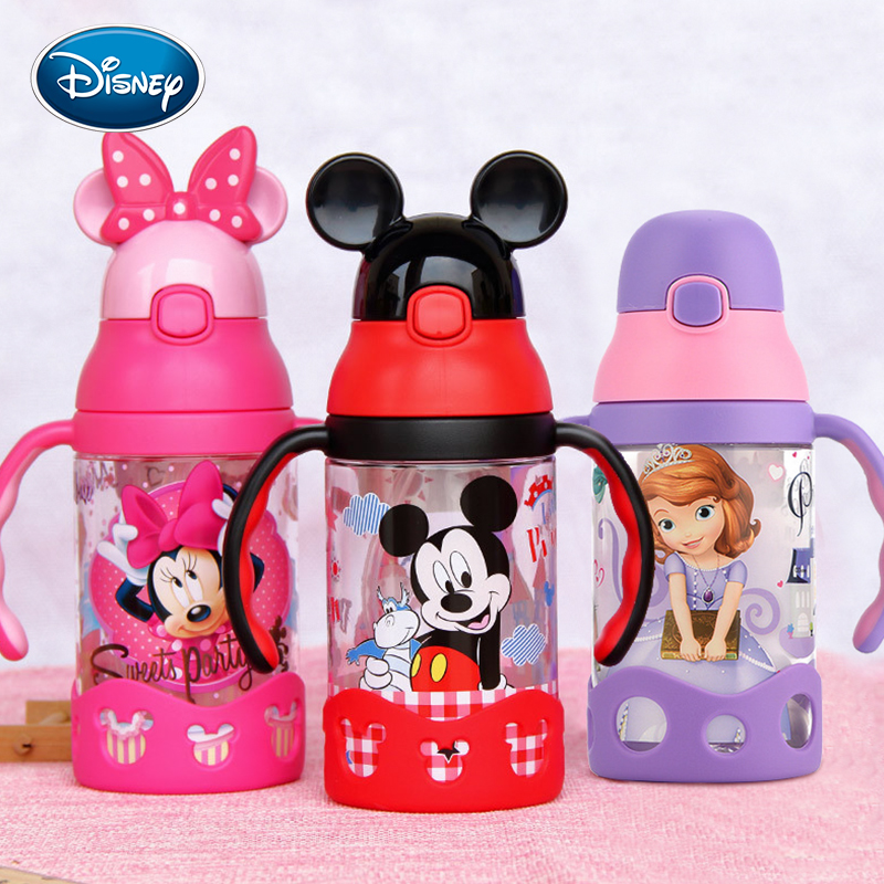 Disney Fashion Baby Cup Leak-proof Children's Sippy Cup Learn To Drink Cup With Handle Baby Kettle  Baby Drink Cup