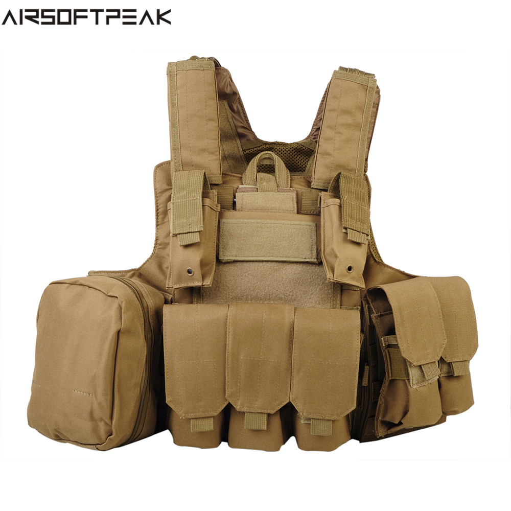 600D Molle Tactical Vest Plate Carrier Hunting Shooting Vest Paintball CS Protector Vest Body Armor Vests With Accessory Bags airsoft adults cs field game skeleton warrior skull paintball mask